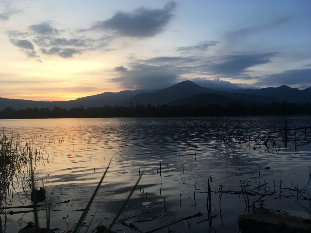 Riverside view in Kampot