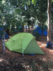 Camping at African Pavilion, Auroville