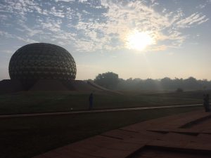 Auroville, sunrise of the 50th anniversary