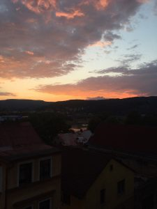 Strong sunset oranges in Decin