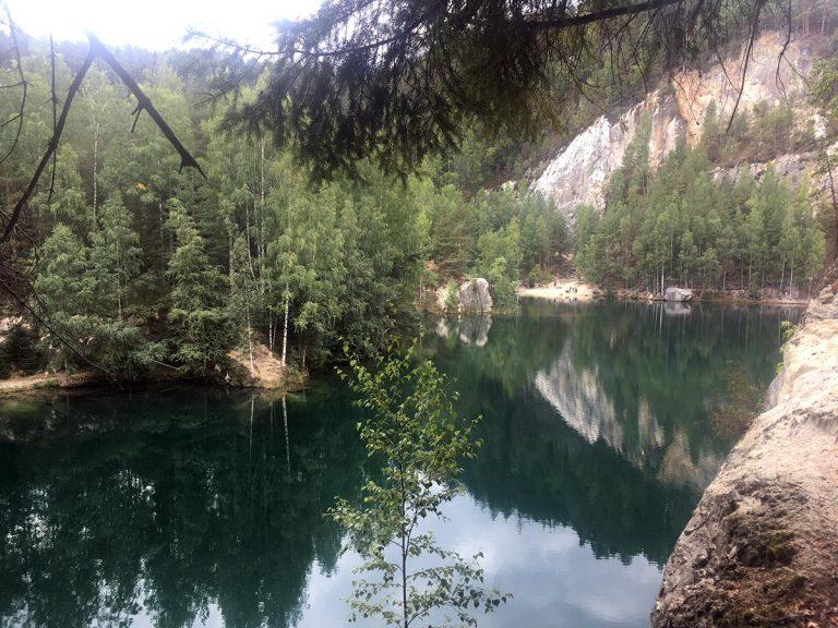 Adersbach lake