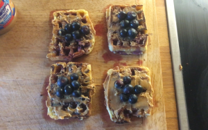 Blueberry Peanut Butter Waffles recipe