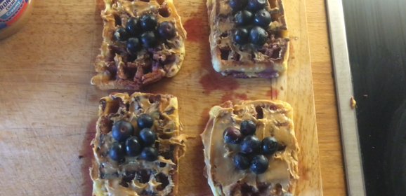Blueberry and Peanut Butter Waffle Recipe