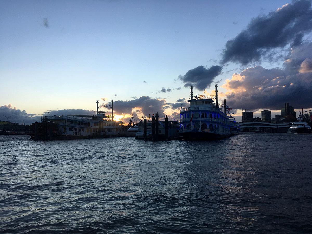 Boats in Hamburg Harbour