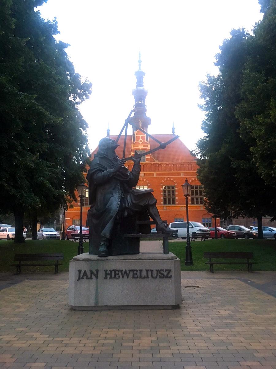 Jan Heweliusz statue in Gdansk