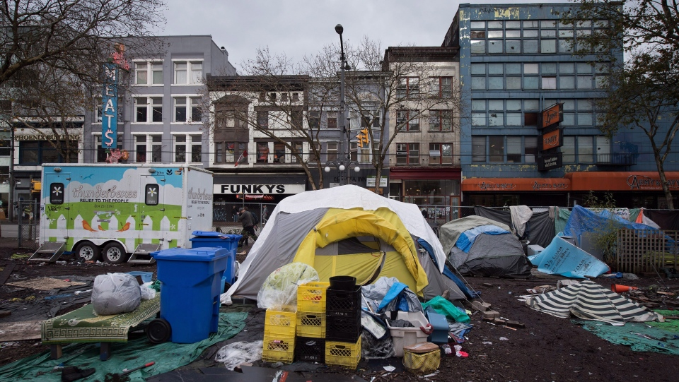 Homeless camp in Toronto