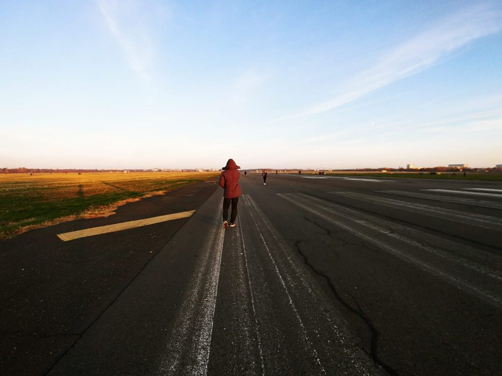 Long walk down the Tempelhof runway