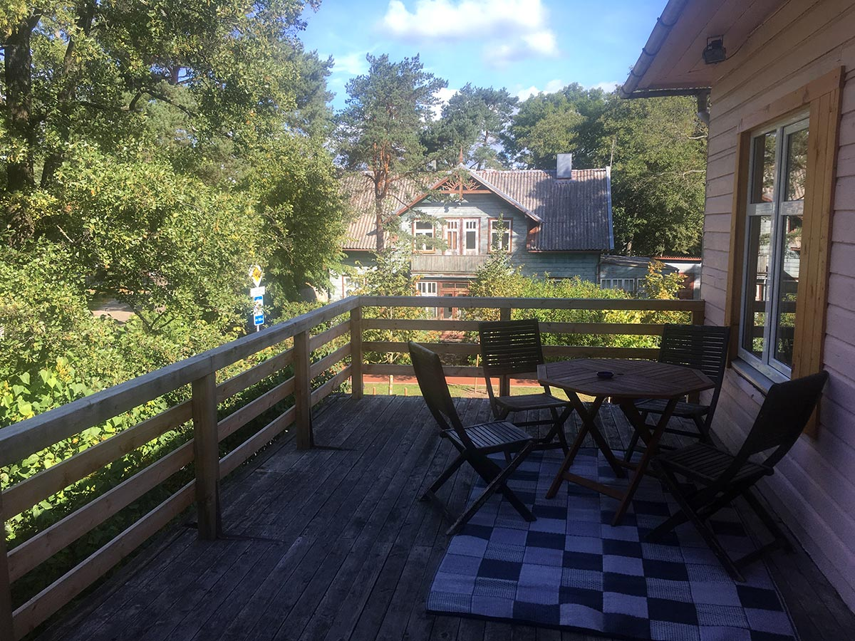 Deck of a great airbnb deal in Palanga