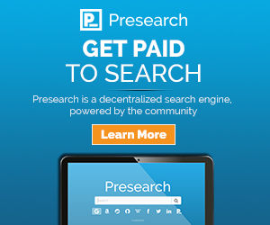 Get paid to search - earn blockchain tokens on Presearch