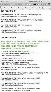 Sea's trip planning 2017