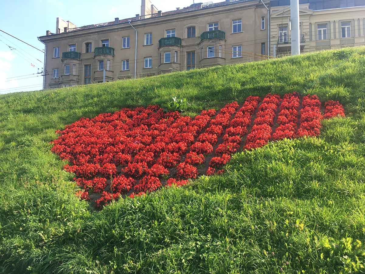 Heart on the banks of the Vilnius River
