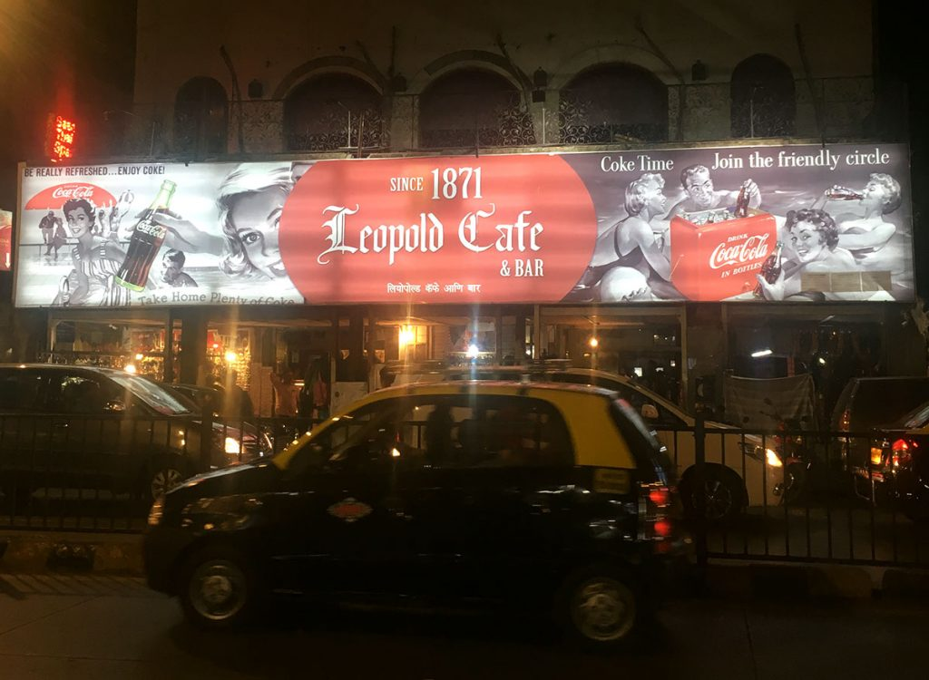 Writing from Leopold Cafe, Mumbai
